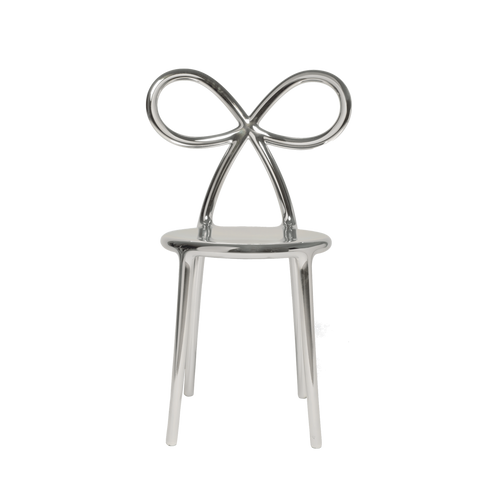 Ribbon Chair Metal Finish - Silver