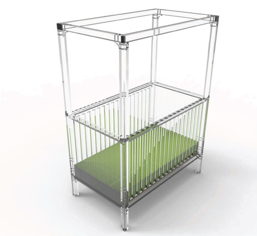 Cloud Acrylic Crib with Canopy