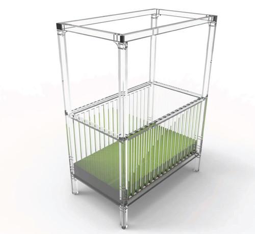 Cloud Acrylic Crib with Canopy