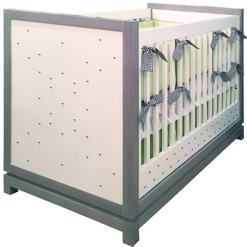 Tempo Crib w/Studs, Grey Ceruse - FLOOR SAMPLE