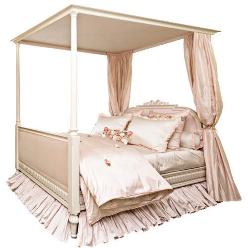 Princess Upholstered 4-Poster Bed - FLOOR SAMPLE