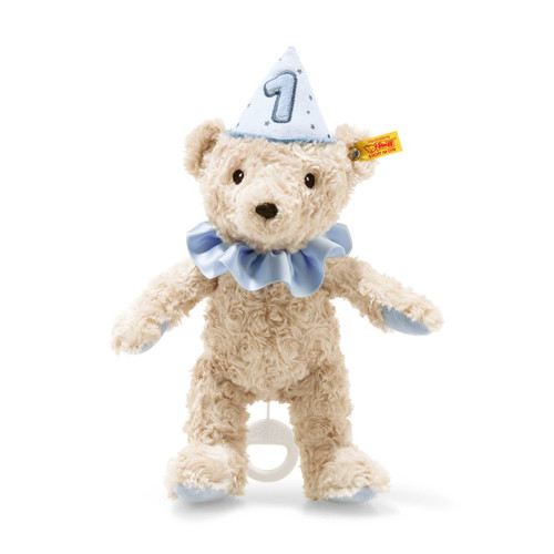 First Birthday Boy Teddy Bear with Musical Box