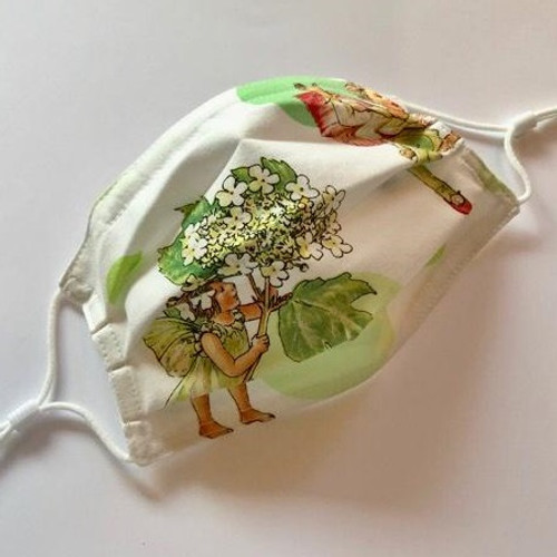 Child Size - Designer Face Mask, Garden 2, One of a Kind