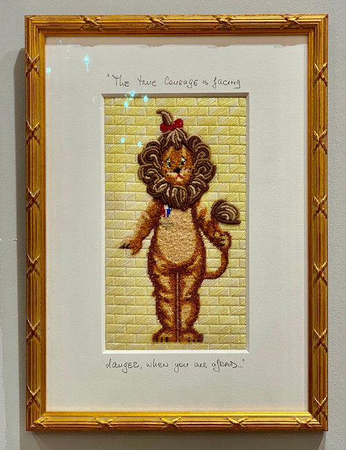 Needlepoint - Cowardly Lion, the Wizard of Oz