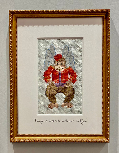Needlepoint - Flying Monkey, the Wizard of Oz