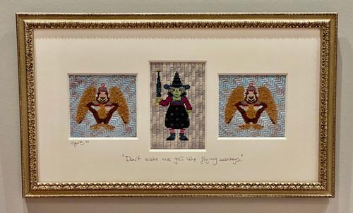 Needlepoint - Wicked Witch of the West w/Monkeys, the Wizard of Oz