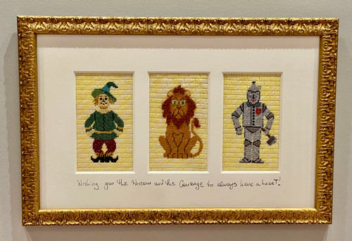 Needlepoint - Scare Crow, Tin Man, Lion, the Wizard of Oz