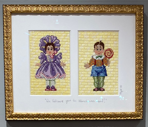 Needlepoint - Munchkins, the Wizard of Oz