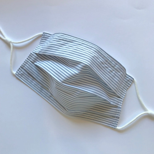 Select Size - Designer Face Mask, Thin Grey Stripe, Limited Edition