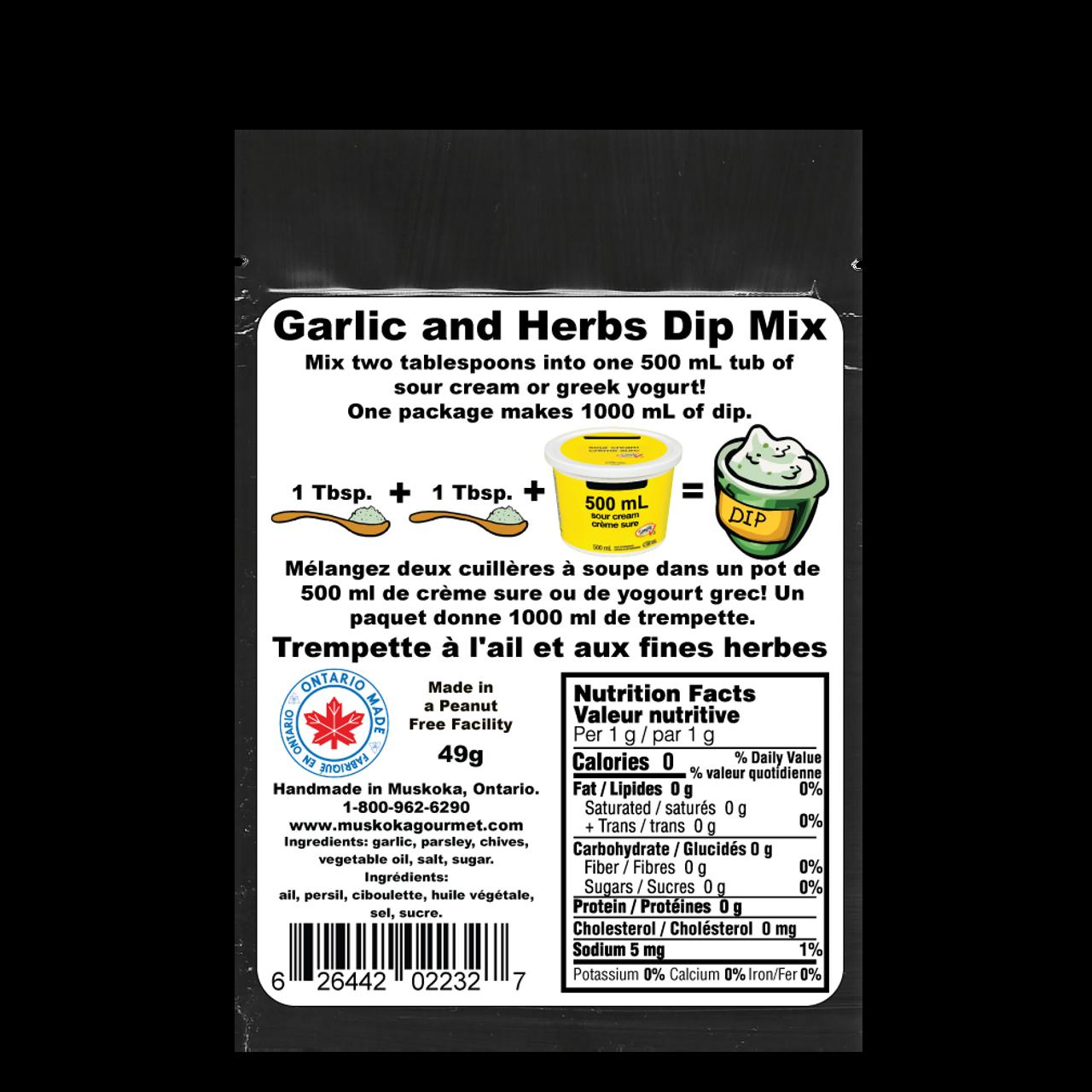 Garlic and Herbs Dip mix