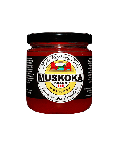 Maple Raspberry Jelly made with Muskoka Maple Syrup!