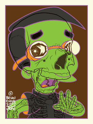 """    MILHOUSE"" SIMPSONS HAUNTED MANSION COLORWAY Artist Proof"