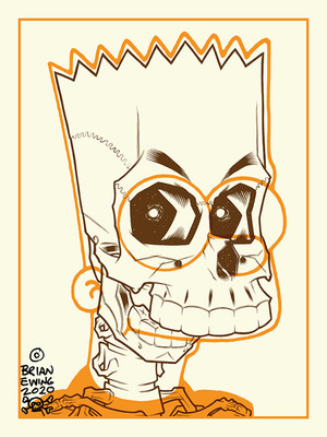 """     BART SIMPSON"" HALLOWEEN COLORWAY Artist Proof"