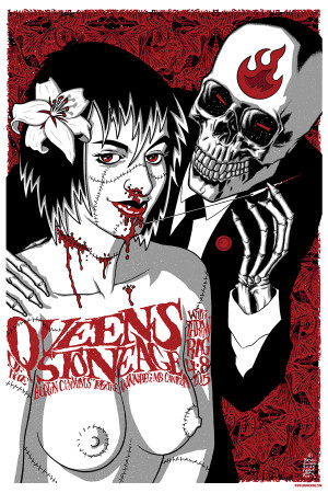 """   QUEENS OF THE STONE AGE""  THROWRAG"