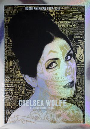 """""""CHELSEA WOLFE SPARKLE FOIL"""""""