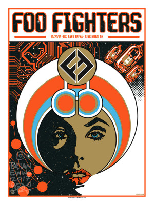 """   FOO FIGHTERS"" 2017 CINCI Artist Proof"