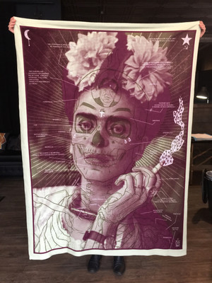 """FRIDA KAHLO"" BLANKET"
