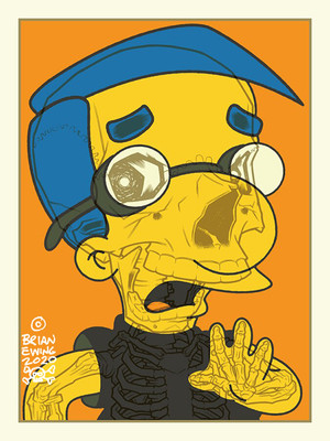 """    MILHOUSE"" Simpsons Artist Proof"