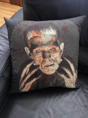 """    THE MONSTER"" pillow"