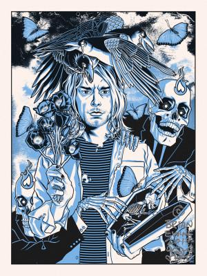 """      HEART SHAPED BOX"" Kurt Cobain NIRVANA regular"