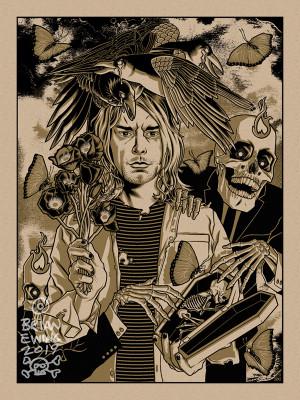 """      HEART SHAPED BOX"" Kurt Cobain NIRVANA Territorial Variant"