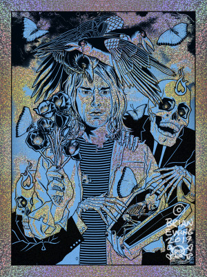 """      HEART SHAPED BOX"" Kurt Cobain NIRVANA regular FOIL"