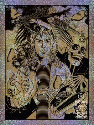"""      HEART SHAPED BOX"" Kurt Cobain NIRVANA Territorial Variant Foil"