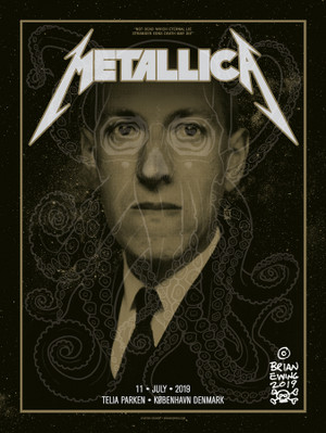 """       METALLICA"" miasmal gold artist edition"
