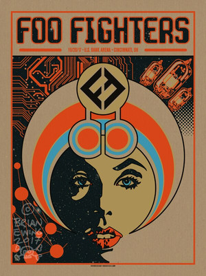 """   FOO FIGHTERS"" 2017 Cinci Pulp ARTIST PROOF"