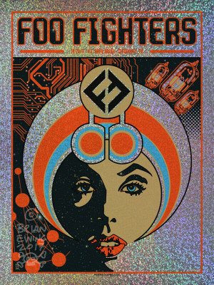 """   FOO FIGHTERS"" CINCI 2017 FOIL ARTIST PROOF"