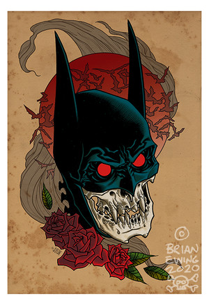 """          BATMAN RED RAIN"" giclee"