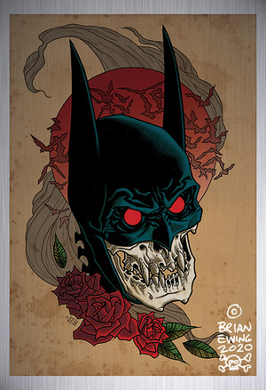 """          BATMAN RED RAIN"" metal giclee A/P"
