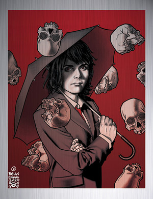 """    APOCALYPSE SUITE"" METAL GICLEE UMBRELLA ACADEMY"
