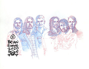 FOO FIGHTERS - CINCI UNUSED SKETCH ORIGINAL ART