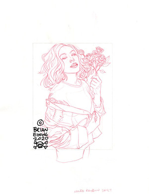 FOO FIGHTERS 2020 - UNUSED SKETCH 1 ORIGINAL ART