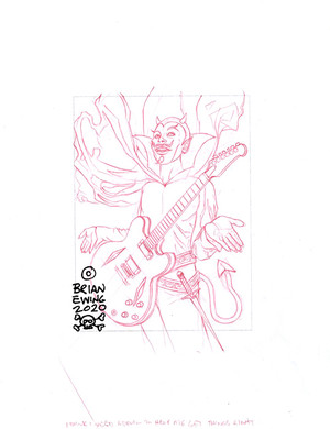 FOO FIGHTERS 2020 - UNUSED SKETCH 3 ORIGINAL ART
