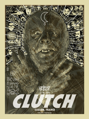 """ CLUTCH"" HELLFEST ARTIST PROOF"