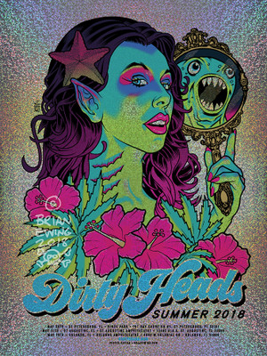 """   DIRTY HEADS"" 2018 FOIL 6 DINGED!!!"