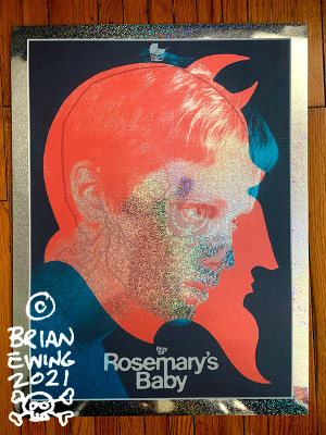 """""""      ROSEMARY'S BABY"""" Foil DINGED"""