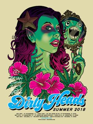 """   DIRTY HEADS"" 2018 ARTIST PROOF"