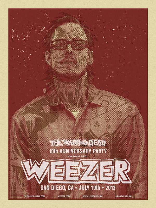 WEEZER WALKING DEAD BLOOD RED SET