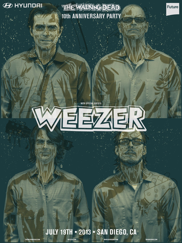 WEEZER WALKING DEAD GROSS GREEN PROMO