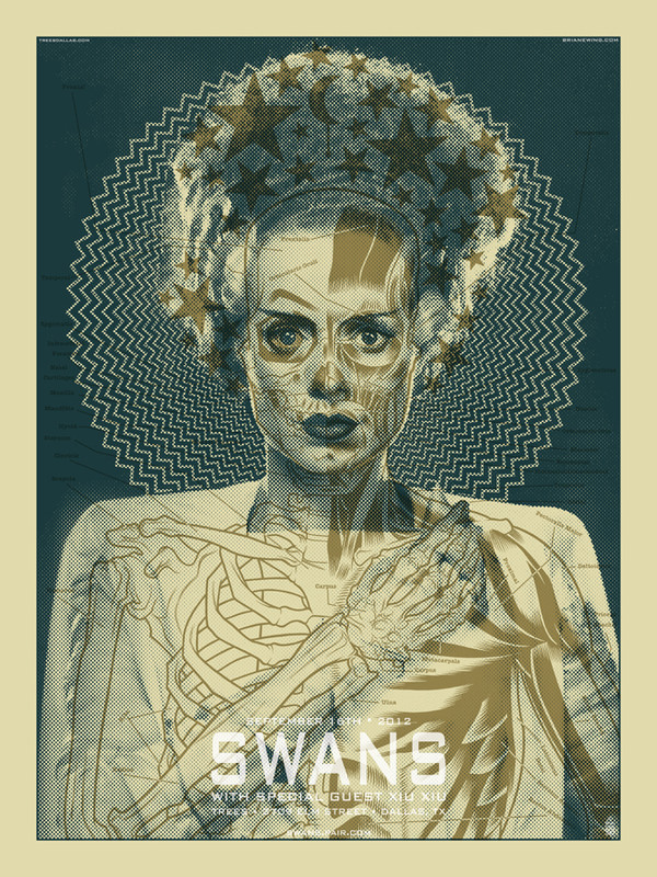 SWANS/ BRIDE OF FRANKENSTEIN ORIGINAL ART
