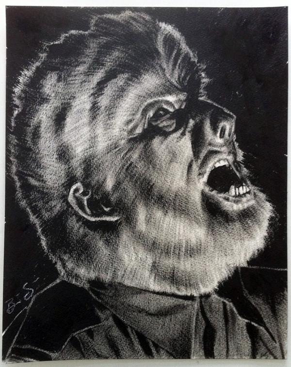 Wolf Man study