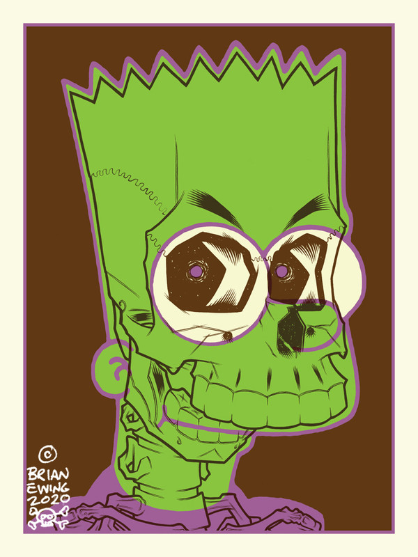 """""""     BART SIMPSON"""" HAUNTED MANSION COLORWAY Artist Proof"""