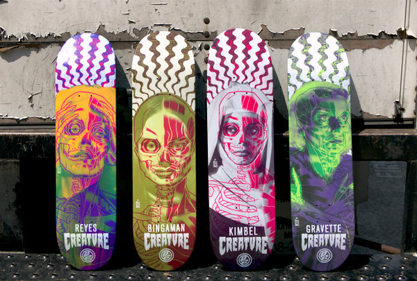"""BINGAMAN SKATE DECK"" creature skateboards"