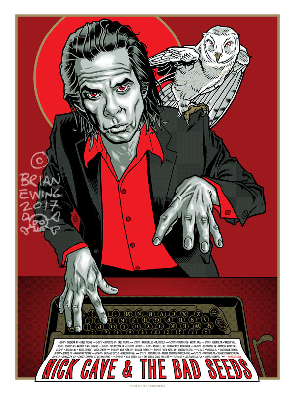 """""""      NICK CAVE & THE BAD SEEDS"""" Artist Proof"""