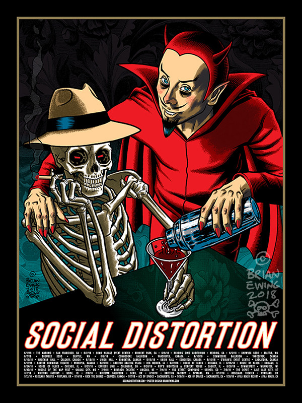 """  SOCIAL DISTORTION"" Original Art!"