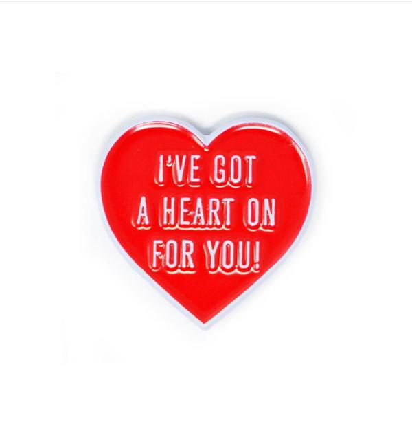 """""""   HEART ON"""" enamel pin"""