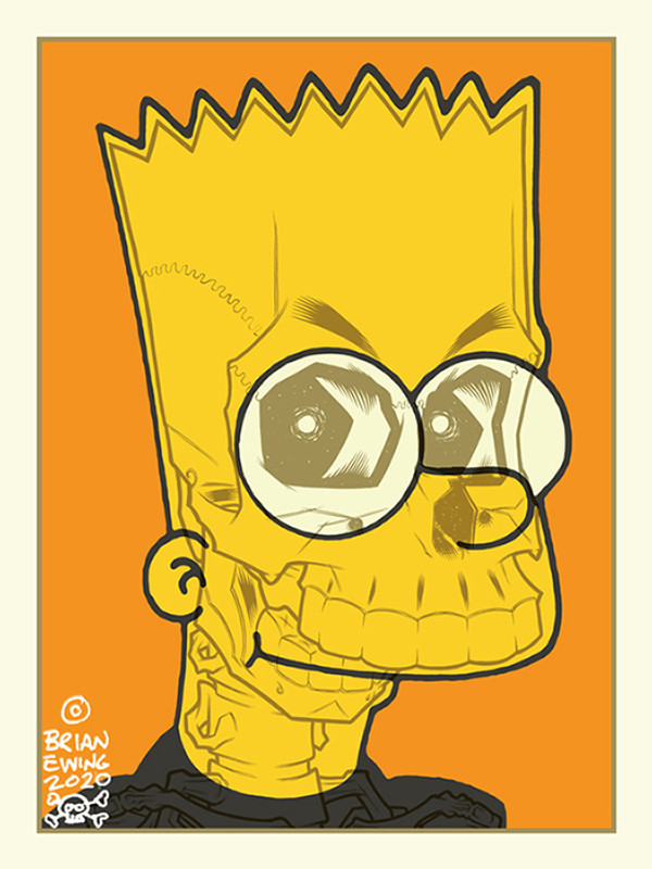 """     BART SIMPSON"" Artist Proof"